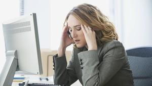 Businesswoman Stressed