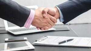 Close Up Firm Handshake