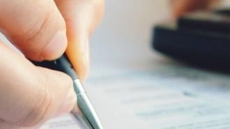 Woman Filling Form HMRC