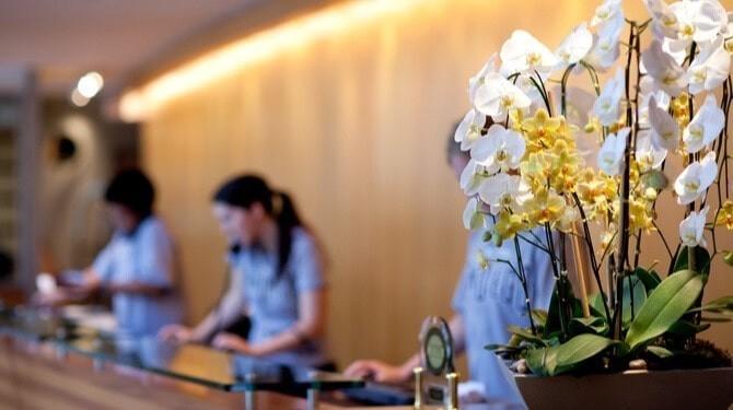 Hotel Reception Desk And Staff Hub