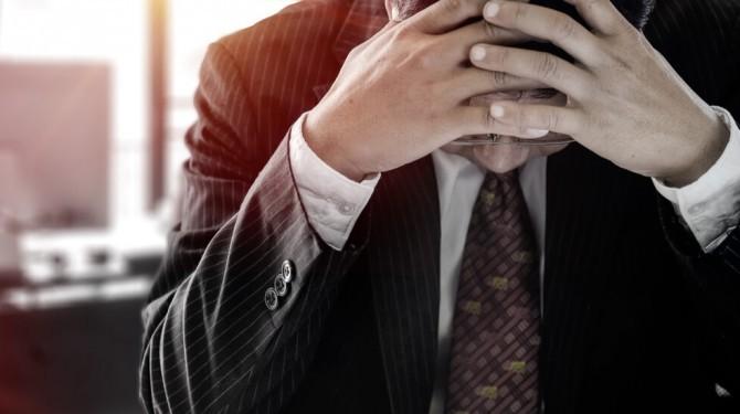 Stressed Businessman Insolvent
