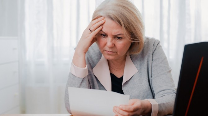 Woman Struggling With Company